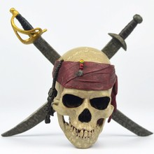 Pirates of The Caribbean Jack Sparrow's Skull Cartoon Cool PVC Action Figure Collection Model Toy for decoration 2017 N(China)