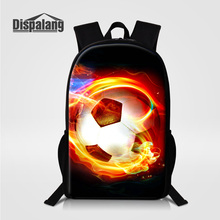Dispalang Children Personality Soccers School Backpack For Teenage Boys Footballs Printed Bookbags For Middle Students Male Pack