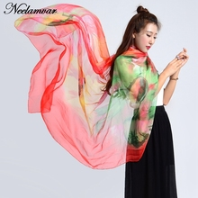 Newest Design chiffon SCARF Large size Printing Women Shawls THIN Warm Scarves girl Wrap Bandana hijab hot sale