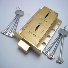 copper lock smith security Mechanical Lever Lock Safe Key Lock for safe box case/bank deposit(China)