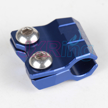 NEW CNC Anodized Aluminum Blue Brake Line Hose Clamp Holder with Bolts and Nuts For Yamaha Dirt Bike Motorcycle Enduro ATV(China)