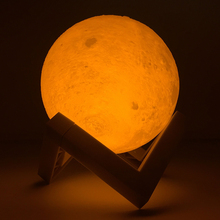 Litwod Z30 Rechargeable 3D Print Moon Lamp 3 Color Change Touch Switch Bedroom Bookcase Night Light Home Decor Creative Gift(China)