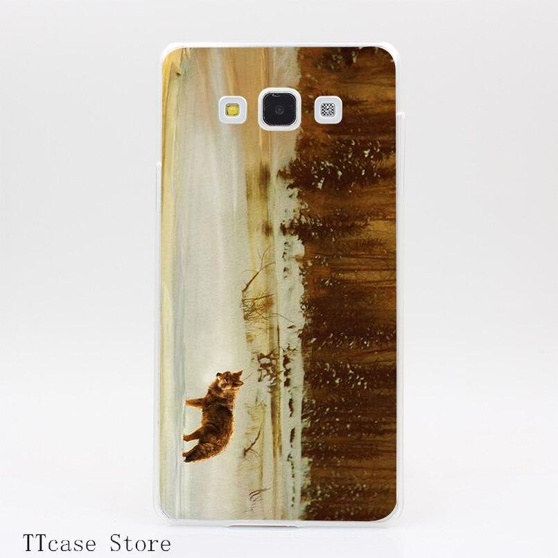 2945CA riverside coyote golden twilight Transparent Hard Cover font b Case b font for Galaxy A3