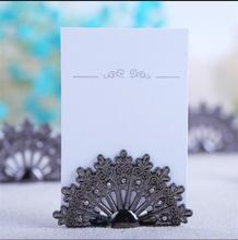 10PC New wedding favor party supplies table decorations bridal shower favor centerpieces casamento peacock place card holder(China)