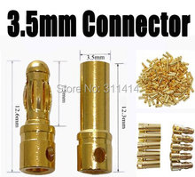 50pairs/Lot Gold Bullet 3.5mm Banana Connector Plug For RC ESC Battery Brushless Motor High Quality Wholesale Promotion