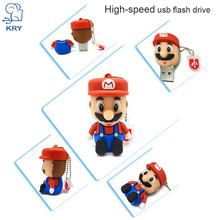 KRY Super Mario Bracelet 2.0 Cartoon Pendrive 4GB 8GB 16GB 32GB 64GB Wholesale Price Memory Stick Fashion Gifts Free Shipping(China)