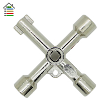 New 1pcs 4 Way Universal Cross Triangle Wrench KEY for Train Electrical Elevator Cabinet Valve Alloy Triangle/Square