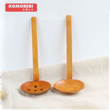 komorebi Nature Solid Wood Ladle Serve Spoon Hot Pot Ramen Soup Buffet Slotted Spoon Colander(China)