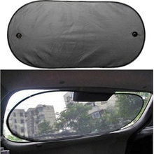 100*50cm Car Sun Shade Window Mesh Curtain Auto Sun Shade Styling Covers Rear Window UV Protection Block(China)