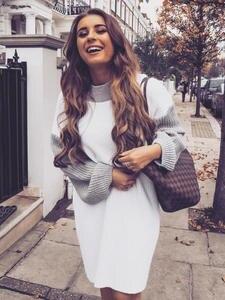 Sweaters Women Pullover Lantern-Sleeve Turtleneck Winter Top Color-Block Patchwork Khaki