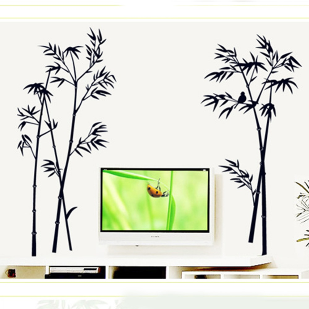 Black Bamboo Wall Decor New Decor For Home Decal Decoration Decals(China (Mainland))