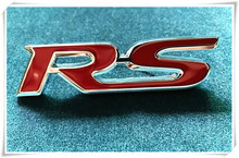 New 3D RS Metal Hood Front Grille Badge Emblem Decal For Acura RLX CL EL CSX ILX MDX NSX RDX RL SLX TL TSX Vigor ZDX Car-styling(China)