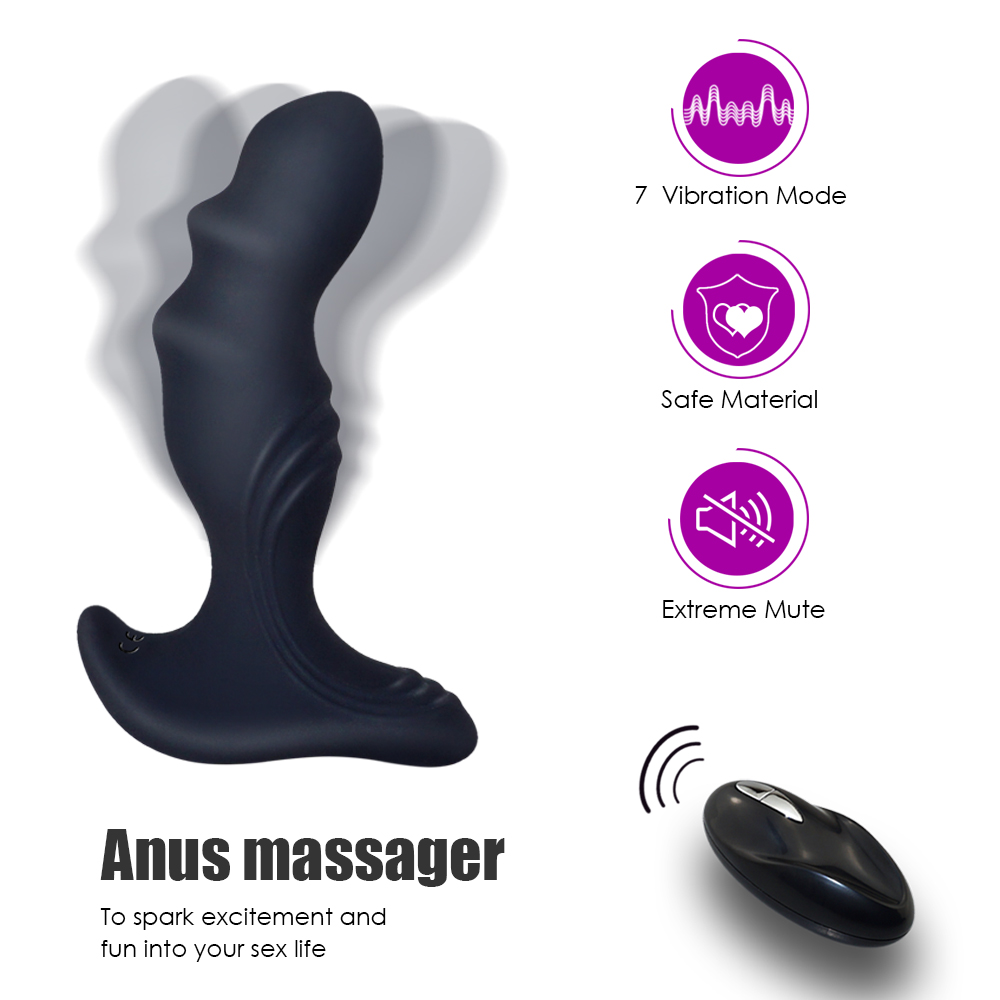 _01Sex Toys for Man Rechargeable Anal Butt Plugs Vibrator 7 Speeds Prostate Massage Anal Vibration Stimulation Male Masturbation