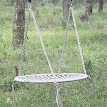 Outdoor Leisure Circular Network Swing Chair Nylon Rope Swing Sleeping Parachute Hammock Chair Garden Swing Hanging Outdoor(China)