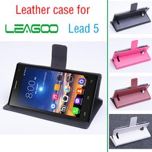 Leagoo Lead 5 in stock hot sell luxury with 2 card slots leather covers case For Lead5 Cell phones White Black 4 colors(China)
