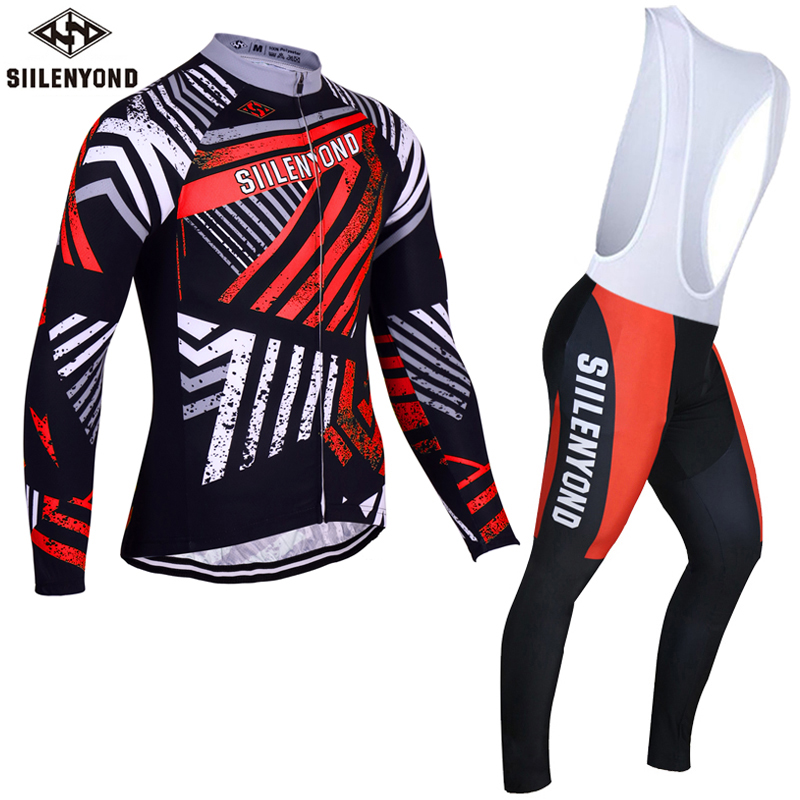 Siilenyond Winter Keep Warm Cycling Jersey Set Winter Thermal Maillot Bicycle Sportswear Quick Dry Bike Clothing For Men<br><br>Aliexpress