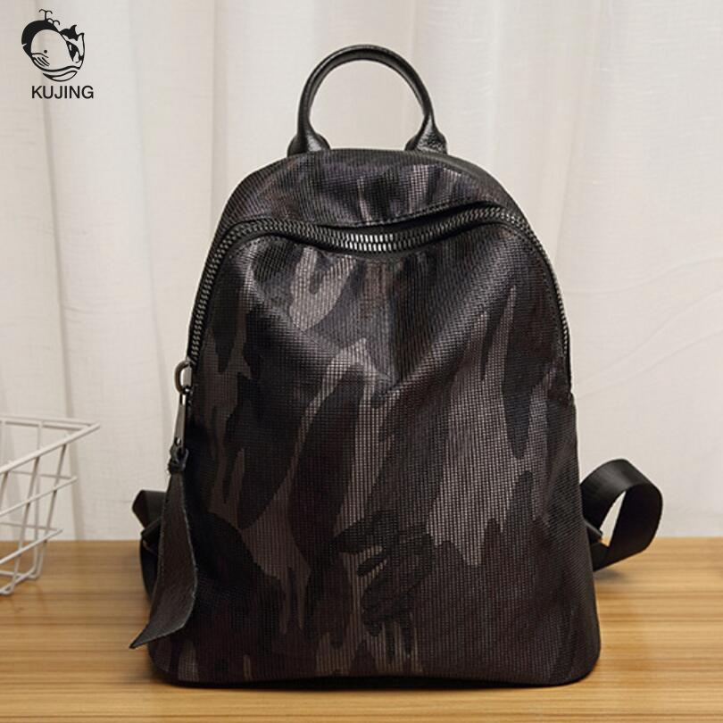 KUJING Brand Female Backpack High Quality Camouflage Large Capacity Student Bag Luxury Travel Shopping Leisure Women Backpack<br>