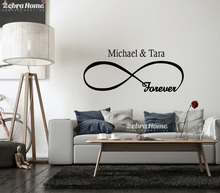 DIY Forever Word Letters Wall Decal Stickers For Living Rooms Home Decorativos Art Vinilos Murals Wallpaper For Bedroom 48X110CM