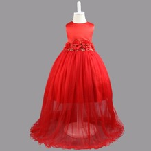 Girl Dress For Wedding Pageant Prom Party Ball Gown Dress 2017 Baby Kids Clothes Toddler Children Events Special Dresses Girl