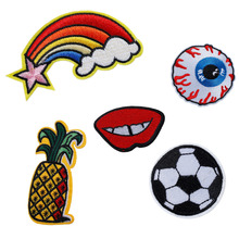 DoreenBeads 3PCs Polyester Appliques DIY Scrapbooking Craft Embroidered Patch For Clothing Fabric Badges Iron-On Sewing Patches