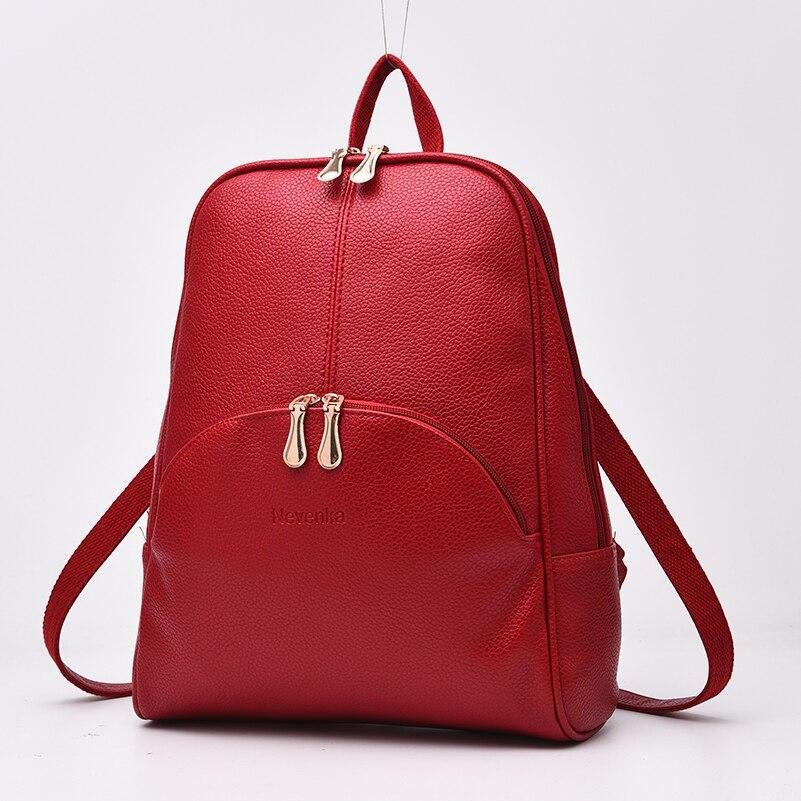 Nevenka Women Backpack Leather Backpacks Softback Bags Brand Name Bag Preppy Style Bag Casual Backpacks Teenagers Backpack Sac23