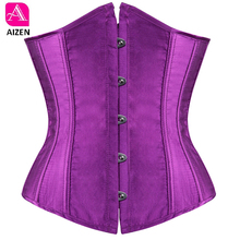 AIZEN plus size sexy corset underbust bodyshaper costumes corsets bustiers ladies burlesque corselet red blue black pink s 6xl(China)