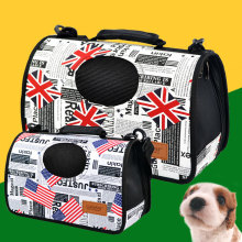 Fashion Women Pet Cat Carrier Bag Pack Puppy Dog Sleeping Windproof Carrier Bags Flag Pattern England Travel Fold Backpack