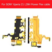 100% Geniune Mainboard & power & Volume & Microphone Flex cable for Sony Xperia Z1 L39h C6902 C6943 C6903 C6906 cell phone parts