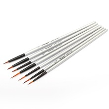 7 Set Perfect Miniature Paint Brushes Detail Brush For Fine Detailing Acrylic Shading Gouache Watercolor Painting Artist School