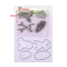 2017 New Silicone Clear Stamps / Seal With Corresponding Cutting Dies Frame Animal Christmas Birthday Card Maker Scrapbooking