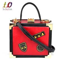 Red Box Women Mini Tote Bag Black Female Shoulder bags with Strap Combination lock Box Trunk Designer Ladies Handbags Z8181