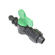 5 Pcs With Fixed Valve Nut Barbed Valve Garden Tools Drip Irrigation System Water Flow Control Garden Hose Connector Water Valve(China)