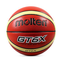 Offical Molten Basketball GT6X Size 6 PU Leather Basketball Ball Outdoor Sports Game Training Ballon Free With Net Bag+ Needle