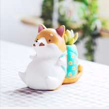 Cute & Beautiful Colorful Animal Pots Gardening Resin Flower Pots Funny Pet eries Style Gardening Pots