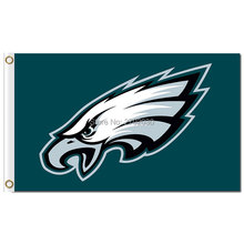 Philadelphia Eagles Banner Flag 3x5 FT 150X90CM Banner 100D Polyester World Series Football Team Philadelphia Eagles Flag(China)