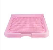 Flip-open cover Pet Dog Mesh Pet Toilet Tray Cat Pad Indoor Pet Potty Toilet Puppy Pee Training Clean Pot(China)