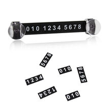 Temporary Car Parking Telephone Number Card Magnetic Puzzle Styling Sticker Sucker Sign Contact Notice Card(China)