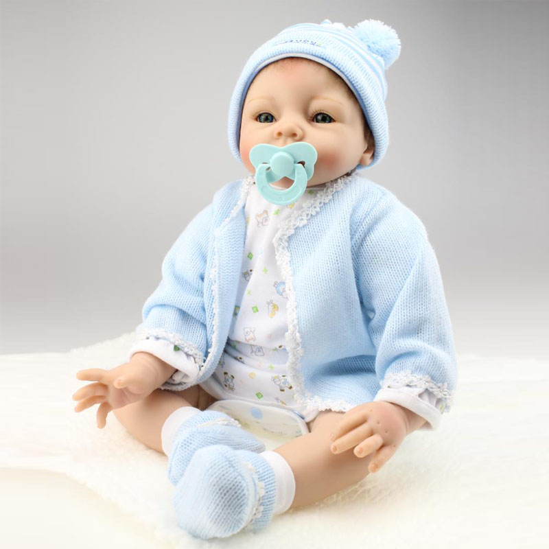 UCanaan New 50-55cm Handmade Silicone Reborn Baby Doll Soft Touch Body  Baby Reborn Dolls Alive Boneca Toys Christmas Gift<br><br>Aliexpress