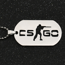 CS GO Necklace Counter Strike CSGO Logo Dog Tag Silver Color Pendant Fashion New Hot Statement Game Jewelry For Men Wholesale