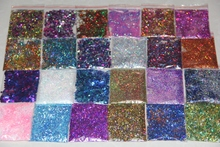 24 bags Irridescent Holographic Nail Art Sequins Paillette Glitter Mix For DIY Nail tips Designs Nail Accesories