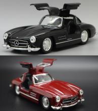 Candice guo alloy car scale model Welly 300SL Benz Gull wing door style Classical plastic motor collection birthday gift toy 1pc