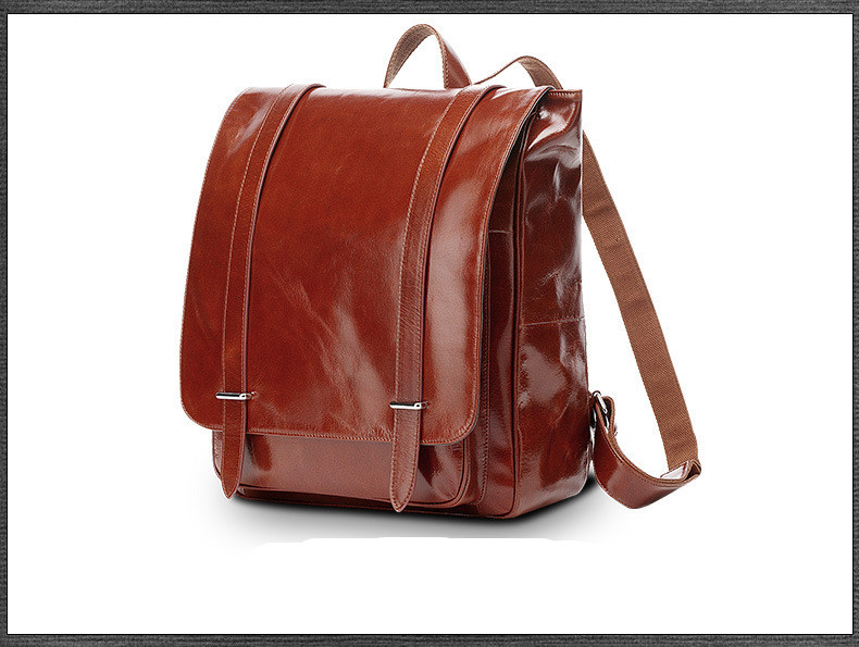 oil wax cow leather men backpack (11)