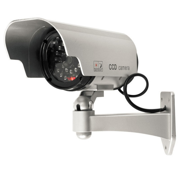 Solar Powered Fake Camera Indoor Outoodr Dummy Bullet CCTV Security Surveillance Camera with Blinking IR LED<br><br>Aliexpress