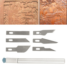 Hot! Multi-function Scrapbooking Model Hobby Crafts Carving Knife Blade Tool Set New Sale(China)
