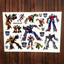 Transformers Superhero Waterproof Temporary Tattoo Stickers Kids Fake Flash Tattoo Cartoon Children Tatoo Autobot Boy Toy Gifts