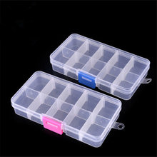 1Pcs Plastic Clear Fishing track Box with 10 Compartments convenient Fishing Lure Tool Case Tackle Boxs Wholesale FA-267
