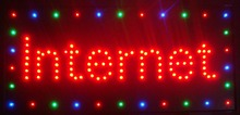 New Led Internet neon signs hot sale 48 X 25 CM indoor Ultra Bright running Internet Bar Neon light sign miti color edge