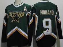 Dallas Stars #9 Mike Modano 2005 CCM Throwback Stitched Vintage Hockey Jerseys Embroidery Stitched Customize any number and name