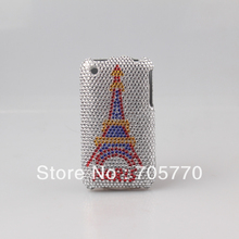 For Iphone 3  luxury Bling Printing The Eiffel Tower Diamond Crystal Hard Skin Case Cover for iphone 3G,3