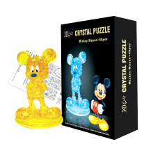 Candice guo! New arrival hot sale 3D crystal puzzle Mickey mouse cute rat model DIY funny game creative gift 1pc